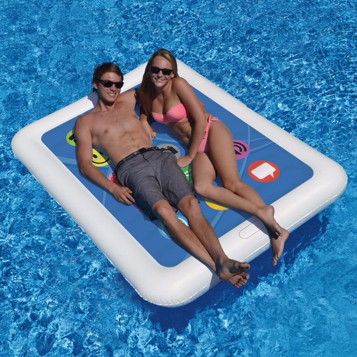 Double The Fun With Swimline Smart Tablet Float Presented By Pool Stuff Express This Is Large Enough For You And A Friend