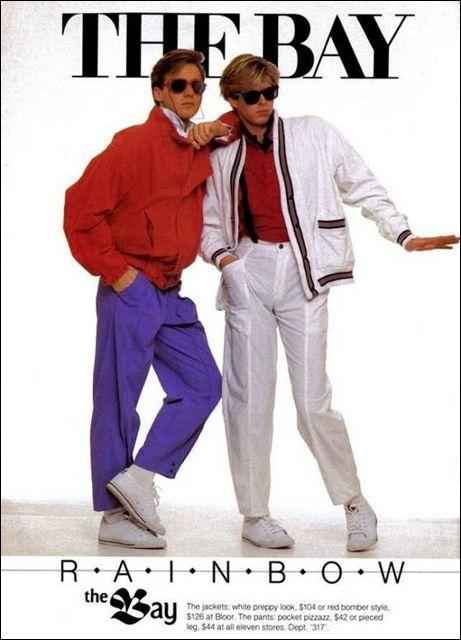 現在ではあまり見ることのできない、70~80年代の最先端ファッション