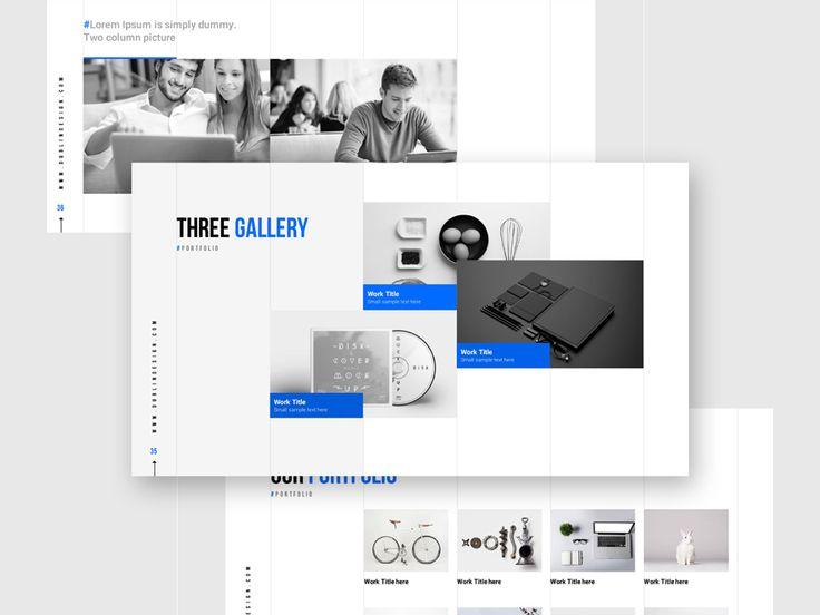 Grids-Minimal Powerpoint Template by Markzugelberg. Get it on MarketMe…