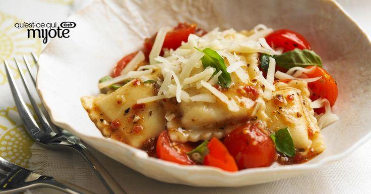 Raviolis aux tomates séchées - Prêts en 20 min, ils attireront la famille à table subito presto!