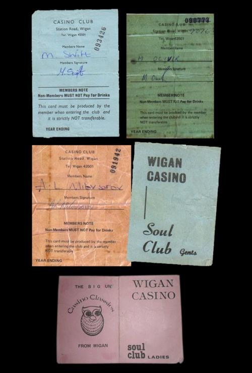 wigan casino member cards