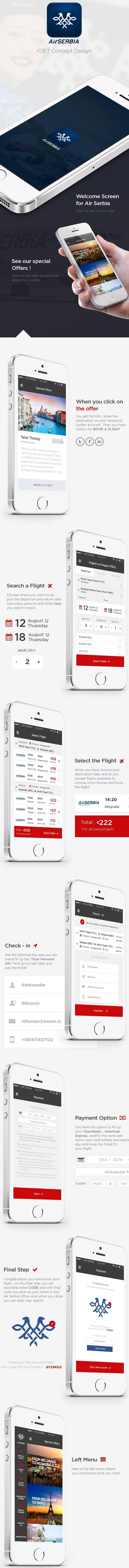 Air Serbia Flight Search App: