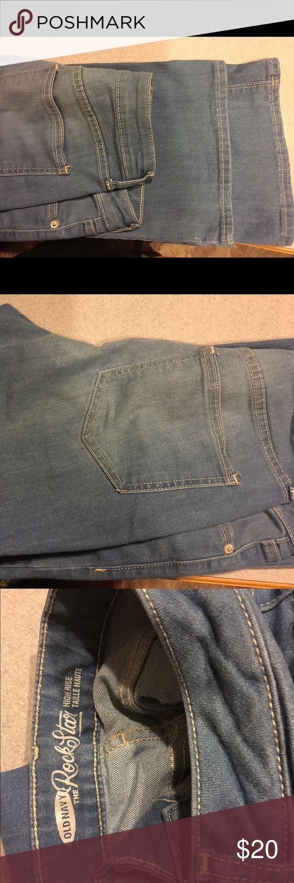 Old navy rockstar jeans light denim NWOT old navy high waisted rock star jeans Old Navy Jeans Boot Cut