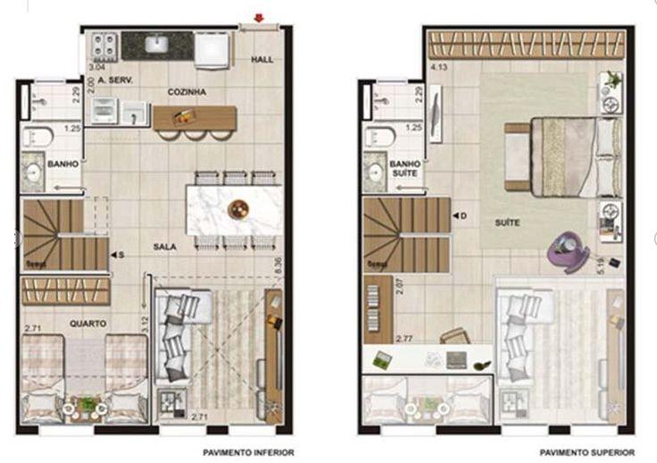 Atrium Lofts E Residences Tijuca Rj - planta 87,59m2