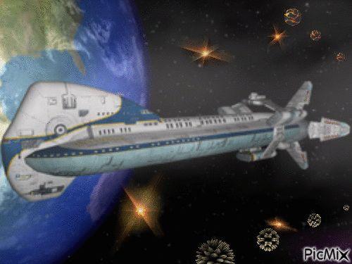 spacebus  original backgrounds, painting,digital art by tonydanis