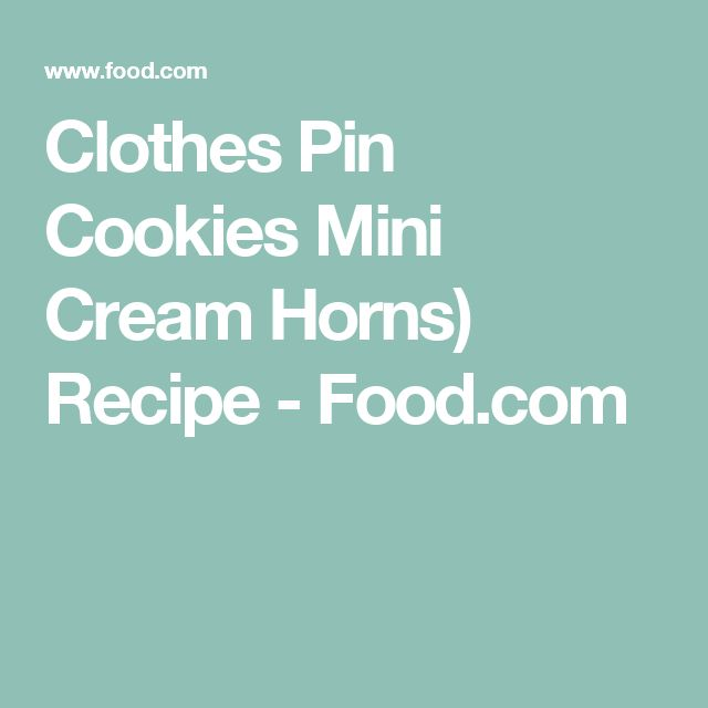 Clothespin cookies mini cream horns recipe