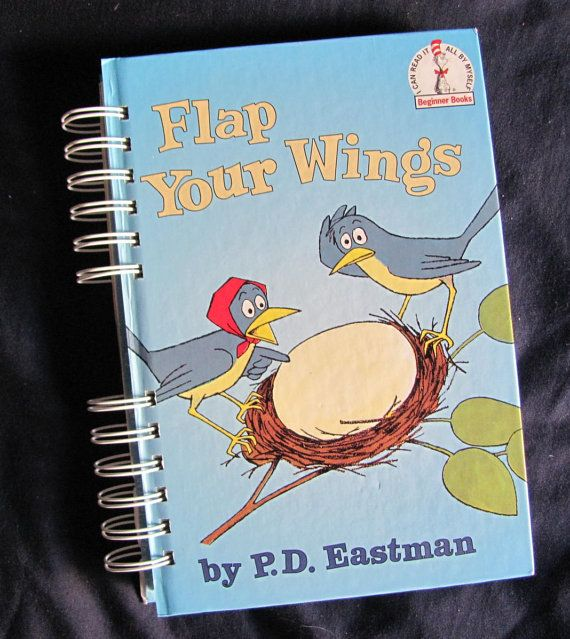 Recycled Kids Book Journal Flap Your Wings by VintageIntent
