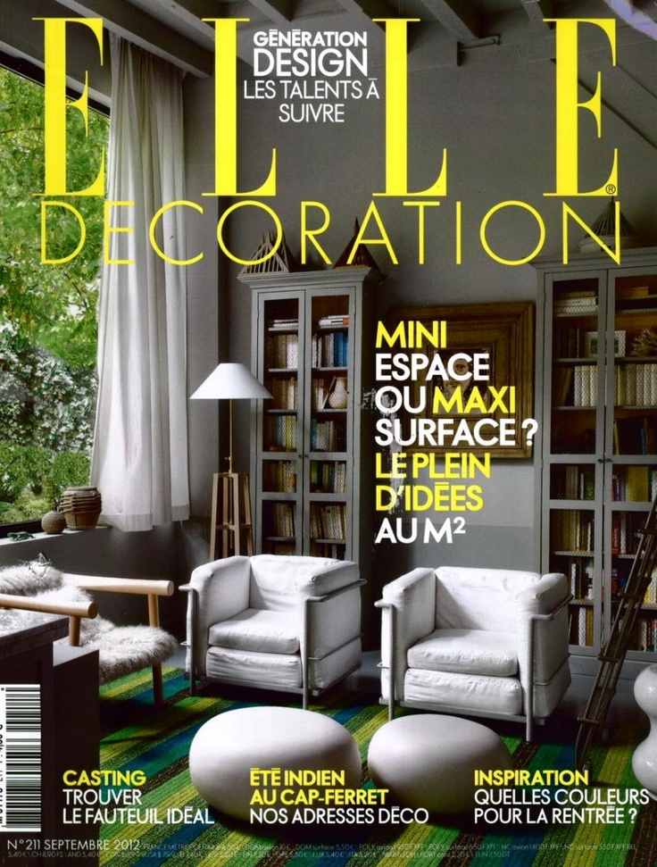 Elle decoration france lc2 design le corbusier jeanneret perriand