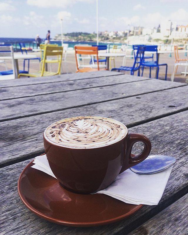 coffee break at Bondi Beach ☕️🏄 #coffee #bondi #bondibeach #break #sun #beautiful #relax #sydney #dream #love #instagood #instafood #like4like #surfer #surferboys #sejuiced #sejuicedbar