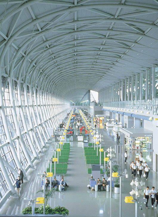 Kansai International Airport Terminal in Osaka, Japan