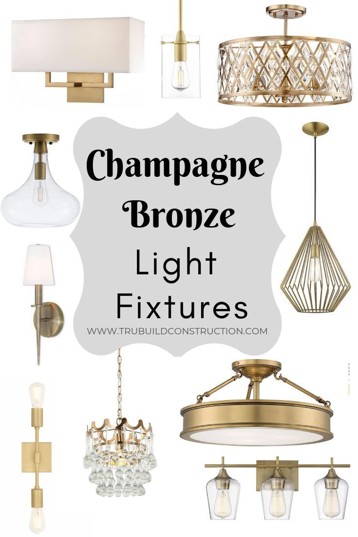 The Best Light Fixtures To Match Delta Champagne Bronze Bronze Bathroom Light Fixtures Bronze Light Fixture Light Fixtures