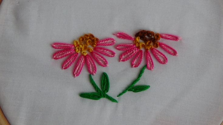 Hand embroidery double lazy daisy stitch youtube