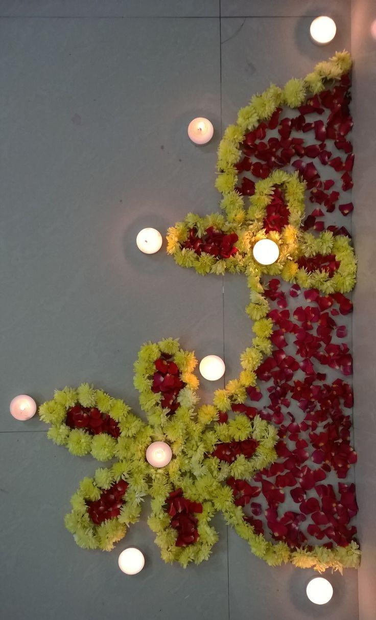 The 25  best Diwali flowers ideas on Pinterest | Diwali ... for Flower Rangoli Designs For Diwali  555kxo
