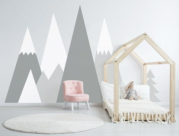 Mountains Wall Decal Baby Room Decor Nursery Crib Mountain Boy Etsy Baby Room Wall Baby Room Wall Decor Baby Room Decals