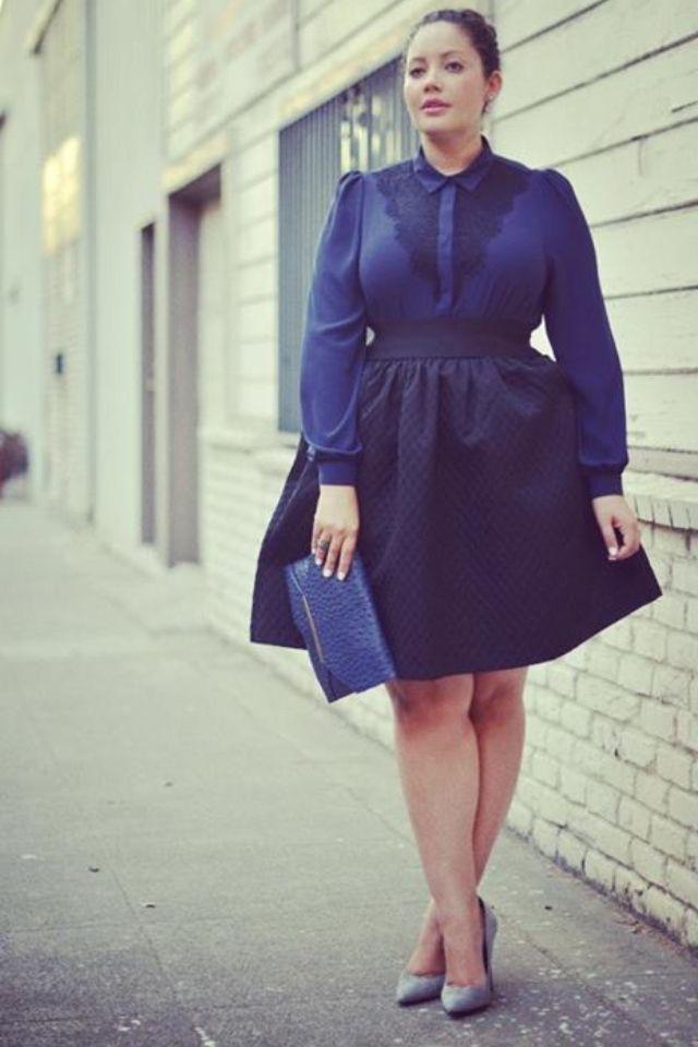 Blue plus size outfit
