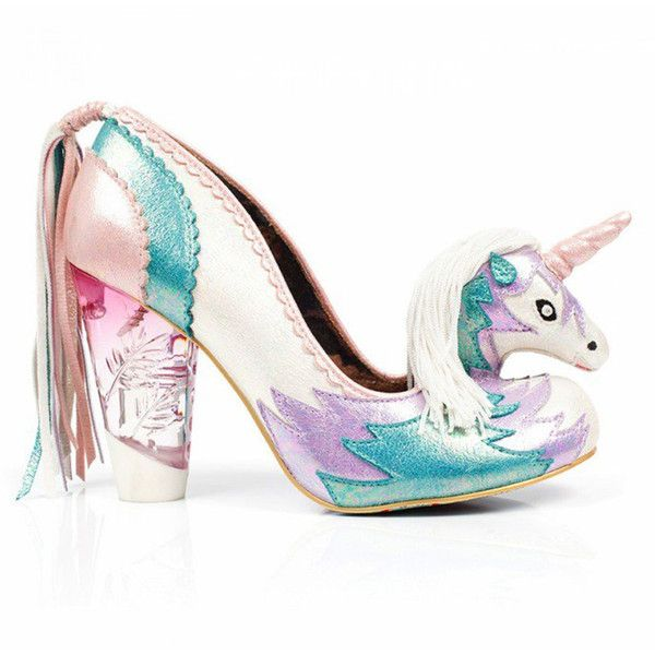 Irregular Choice Dreamkiss Unicorn Shoes (1.885.490 IDR) ❤ liked on Polyvore featuring shoes, prom shoes, gothic shoes, irregular choice shoes, vintage footwear and goth shoes