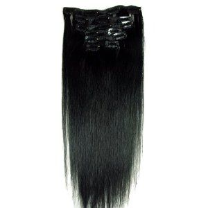 "Angelcoco 100% Indian Remy Clip In Human Hair Extensions Jet Black 22"" 7pcs/set 100g Straight by Angelcoco. $60.00. Do It Yourself-Can Be Cut, Curled, Blow Dried And Straightened-Easy To Wash-Lasts For Years With Proper Care. Clip In Hair Extensions Ready To Be Attached - Clips Included - Add Instant Volume To your Hair-  Wide Range Of Sizes, Colours&Styles. Why Here Is Your Only Choice,Before You Buy Any Hair Extensions Be Confident You Are Getting:1,Grade A Indian Re..."