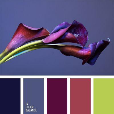 azul medianoche, color azul oscuro con tono violeta, color azul turquí, color berenjena, color burdeos, color malva oscuro, color verde amarillento, combinación de colores guinda e índigo, combinación de colores para decorar interiores, de color azul ciruela, de color violeta,