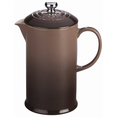French Press Truffle Enjoy expertly brewed coffee in this traditional press featuring a colourful stoneware exterior with a stainless steel plunger and mesh press inside. 0.8 L capacity.