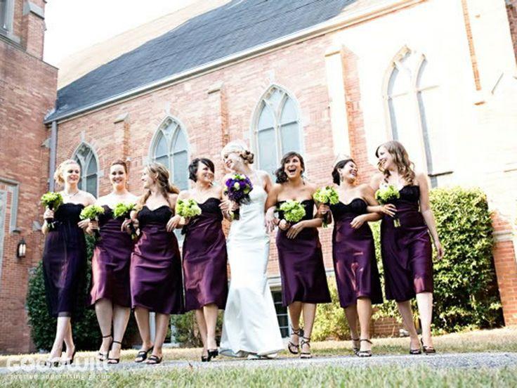 пример, как подружки невесты гармонируют с невестой, но платья дурацкие