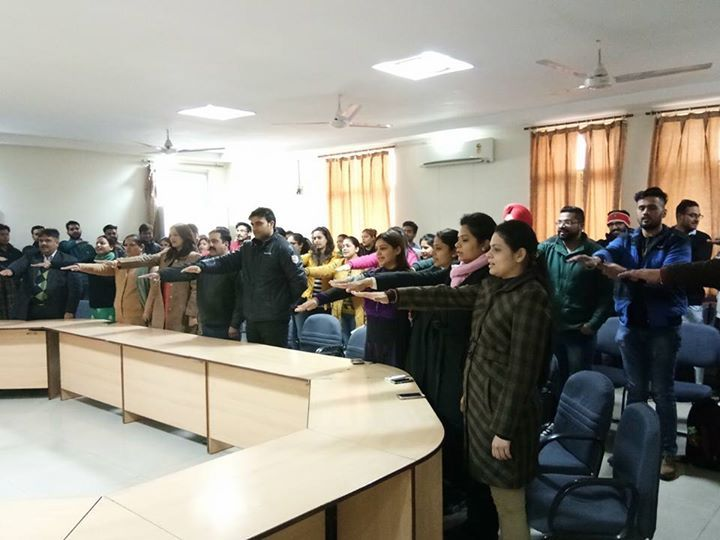 #AIMTC students and staff celebrated National Voters Day in the campus on January 252017 by taking an oath to vote on February 4 for Punjab Assembly Elections 2017. It was an initiative of #NSS Department of AIMTC.