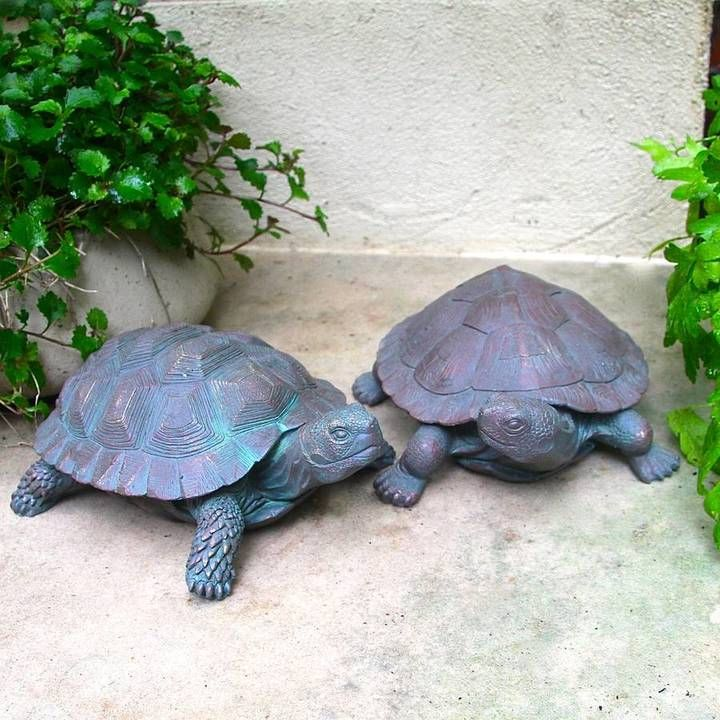 Trading Pair Of Tortoise Garden Sculptures   The Perfect Present For A Hard  To Buy For Man, Retirement Gift Or A Unique Gift For Gardeners.