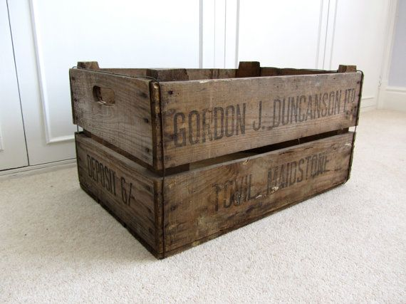 Vintage Wooden Crate by RandleAndEighth on Etsy, £35.00