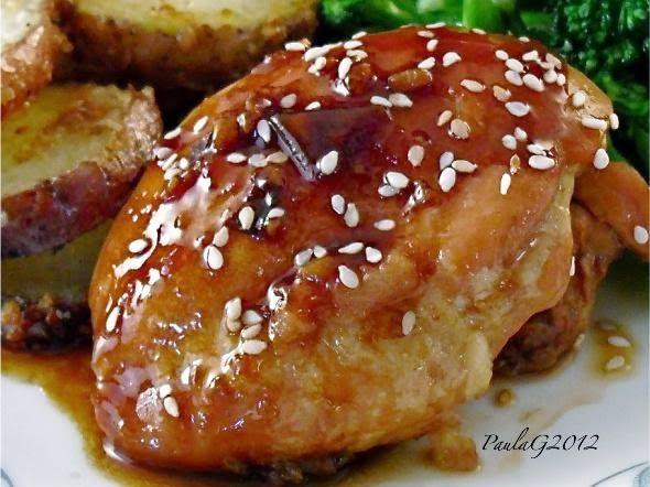 Korean Roast Chicken Thighs Recipe. #chickenrecipes #koreanrecipes