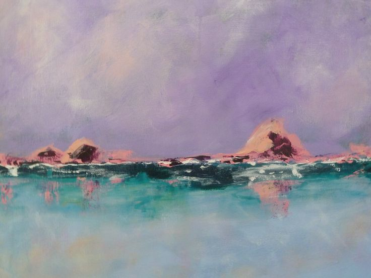 Title: Islet II  This series is about 'love'.  As Kahlil Gibran said 'Work is love made visible'  'love' is of the islets off where I live in the Saronic Gulf.  You will discover different colours of the sunshine in these works.