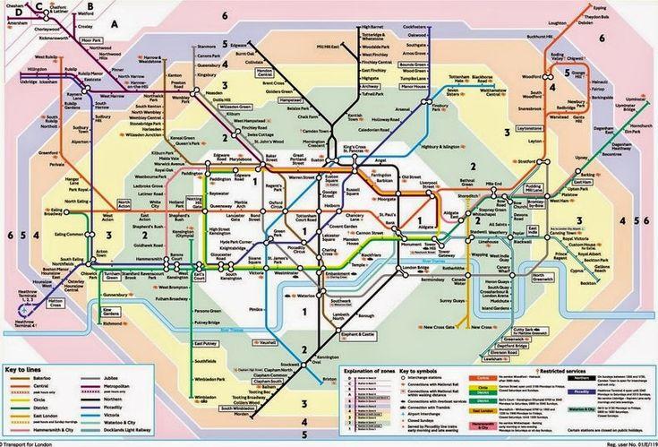 mapa zonas de Londres