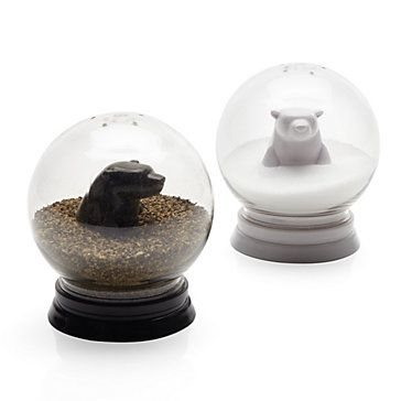 Z Gallerie - Snowglobe Salt  Pepper Set   I must have these! - http://AmericasMall.com/