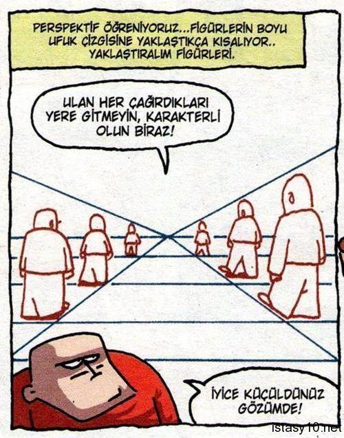 Perspektif ! Karikatür komedi dram