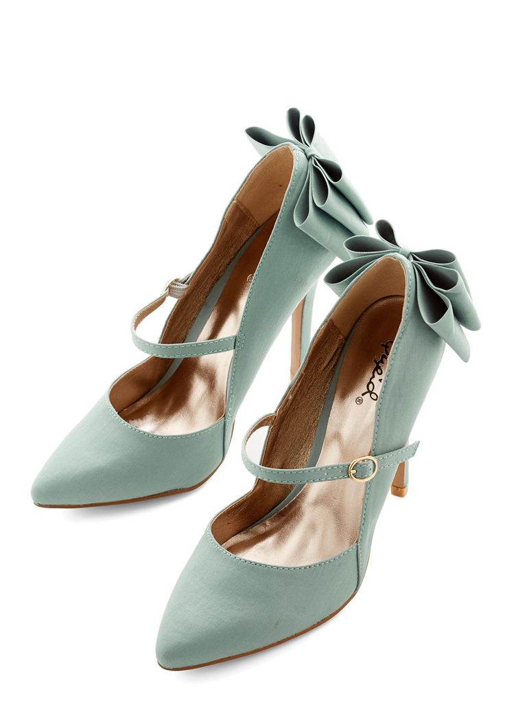 Zeal of Approval Heel. Wear your moxie like a badge of honor by stepping out in these minty high heels! #mint #prom #wedding #bridesmaid #modcloth