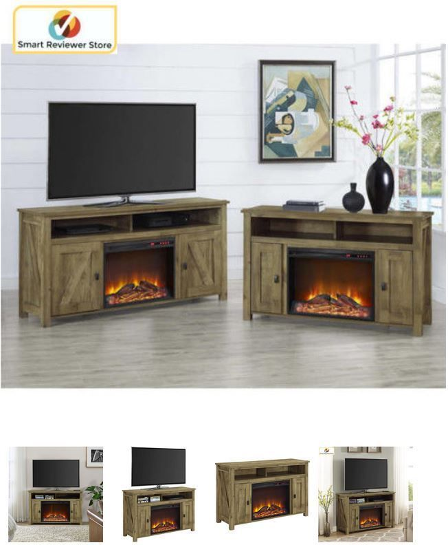 50 Inch TV Stand With Fireplace Media Console Electric Entertainment Center SALE #Altra