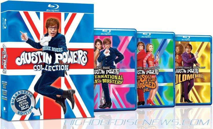 Austin Powers - Entire Collection - the first was the best.  Elizabeth Hurley and Mike Myers were magic together.  So many quotable lines!