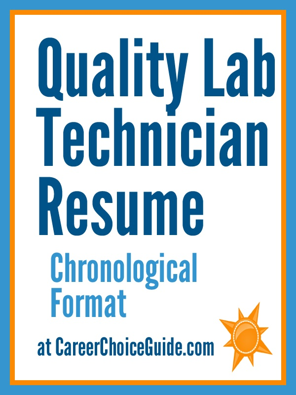 Quality Assurance Lab Tech sample resume