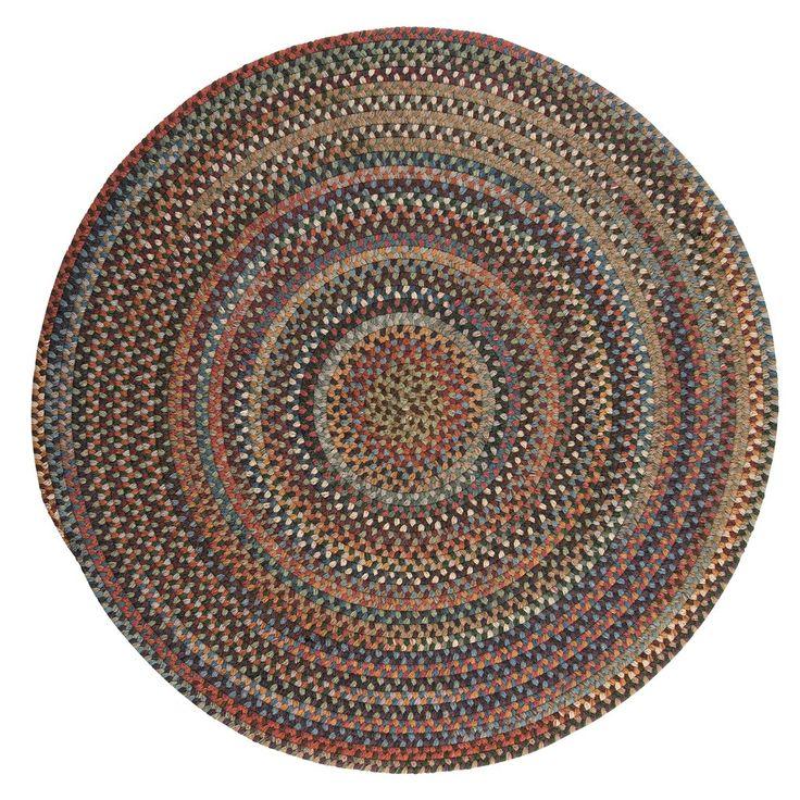 Rustica Round Braided Wool Rug, RU90 Classic Multi
