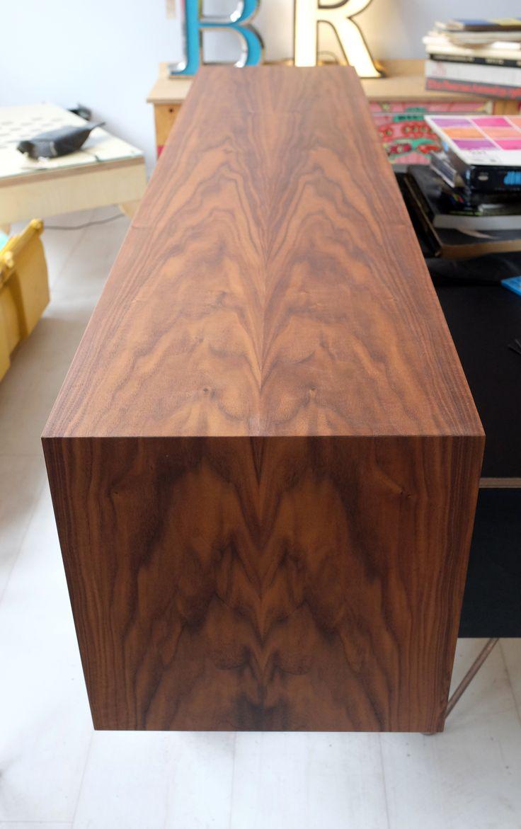 Birch Veneer Buffet ~ Best slunglow sideboard bookmatched walnut veneer over