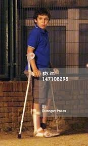 Princess Elena's son Felipe Juan Froilan, days after shooting himself. I like Froilan!!! Getty images.