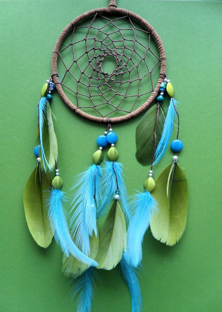Dream Catcher - Green and Blue - Modern   Blue and, Dream ...