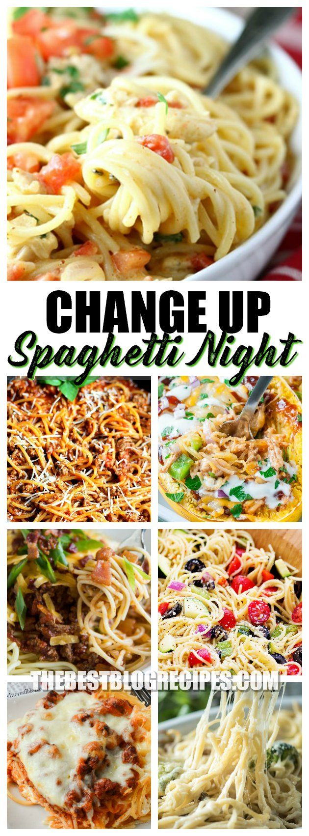 Delicious ways to CHANGE up your Spaghetti Dinner Routine so you don't make the same dinner over and over again. These recipes are easy to make and will have your family excited about Spaghetti Night again!  via @bestblogrecipes