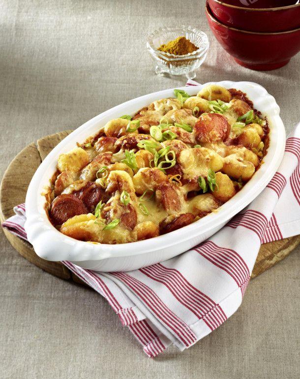 Unser beliebtes Rezept für Rasanter Currywurst-Gnocchi-Auflauf und mehr als 55.000 weitere kostenlose Rezepte auf LECKER.de.