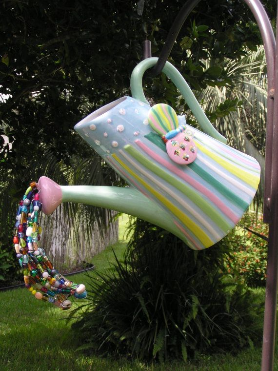 Butterfly Pitcher Garden Decor Whimsical Watering Can 400 x 300