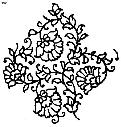 Repeating element from traditional handloom textile block print.