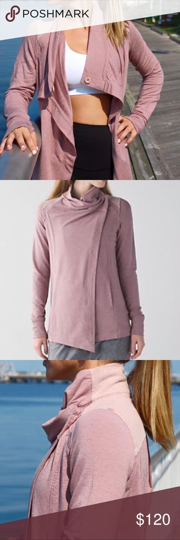 Lululemon Coast Wrap Lululemon super-soft Modal fabric is four-way stretch. Stash your stuff in the front pockets media pocket with cord exit so you don't get tangled in your tunes. thumbholes help keep sleeves down and hands warm. Wear this relaxed layer open and loose when we're feeling breezy after class. Double button, one on the inner and one on the outer collar. Instant coziness! 💌Thank You for your Interest!!😘 ❌NO Trades❌ 💲Fair Offers Accepted💲Want MORE For LESS?✨Use the BUNDLE…
