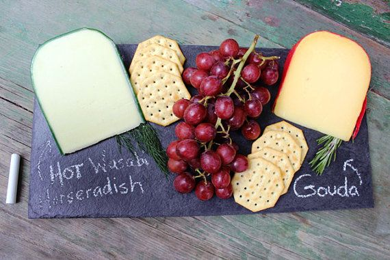 Natural Stone Slate Cheese Board Appetizer Serving by RockTimber
