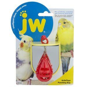 JW Activitoy Vogelspeelgoed Punching Bag 7 cm  Description: JW vogelspeelgoed met spiegel voor parkieten .Trekken duwen en schudden en het belletje in de boksbal zal gaan rinkelen Jouw vogel zal het daarnaast geweldig vinden om het balletje in actie te zien in de glimmende spiegel. Op de bovenkant van het speeltje zit een rood hengsel waarmee de boksbal tevens in beweging kan worden gebracht. Twee manieren om te spelen dus Afmeting: 75x65x65 cm  Price: 4.95  Meer informatie  #huisdier
