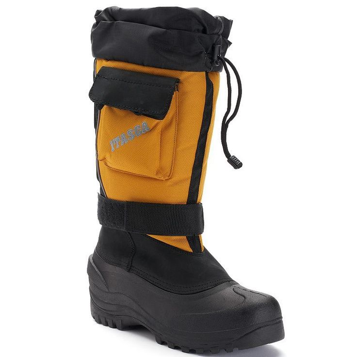 Itasca Snow Bound Ultimate Men's Waterproof Winter Boots, Size: 11, Drk Yellow