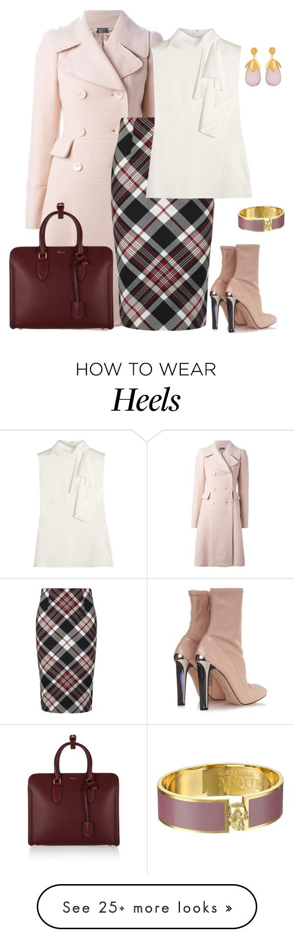 """outfit 2815"" by natalyag on Polyvore featuring Alexander McQueen and Kastur Jewels"