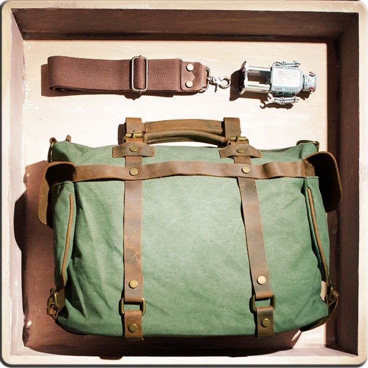 Superior Genuine Cow Leather canvas bag / leather Briefcase / leather Messenger bag /leather Laptop bag / Men's leather satchel